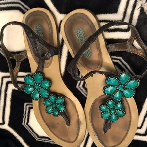 Kenneth Cole Jeweled Sandals